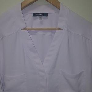 🔖Nine West Lavender button-up blouse